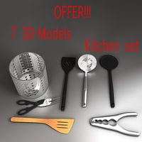 kitchen utensils kit 3D Model