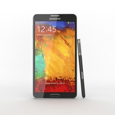 Samsung Galaxy Note 3 Black 3D Model