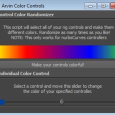 ja_ColorControl Script for Maya 1.0.0 (maya script)