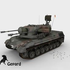 FlakPanzer gepard German Army Scheme 3D Model