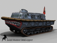 Land Wasser Schlepper , Ghost Scheme 3D Model