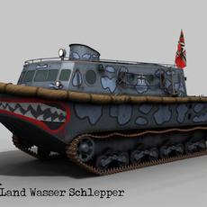Land Wasser Schlepper , Ghost Scheme 3D Model