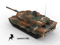 Leopard 2 HEL, Greek Army Scheme 3D Model