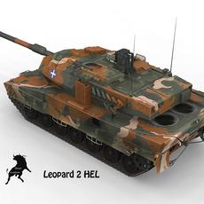 Leopard 2 HEL, Greek Army Scheme 3D Model