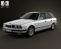 BMW 5 Series touring (E34) 1993 3D Model