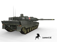 Leopard 2 E Spanish Army Scheme 3D Model