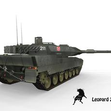 Leopard 2 E Spanish Army Scheme 3D Model