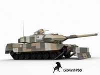 Leopard 2 PSO Urban Assault Scheme 3D Model