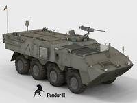 Pandur II Portuguese Scheme Army 3D Model