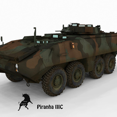 Mowag Piranha III C, Spanish Marines NATO scheme 3D Model
