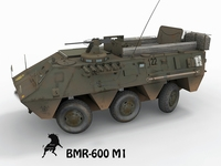 BMR-600 M1, Spanish Army decals 3D Model