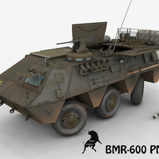 BMR-600 PM-120 with Spanish Decals 3D Model