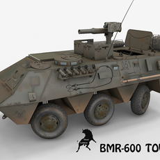 BMR-600 Tow version with Spanish Army decals 3D Model