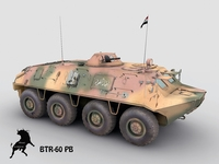 BTR-60 PB, Iraquian army Scheme 3D Model