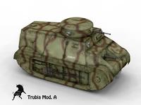Trubia Naval Type A Camo Scheme 3D Model