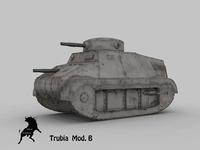 Trubia Naval Type B original scheme 3D Model