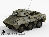 VEC M1, Spanish Army 3D Model