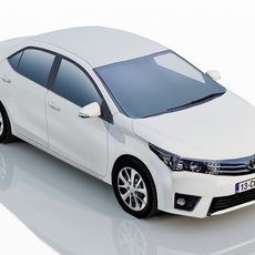 Toyota Corolla 2013 EU Version 3D Model