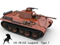VK 10.02 Leopard prototype 1 3D Model