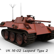 VK 16.02 Leopard prototype 2 3D Model