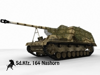 Sd.Kfz.165 Nashorn, textured model 3D Model