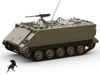 M-113 A1 APC 3D Model