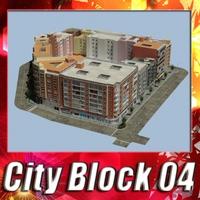 City Block 04 3D Model