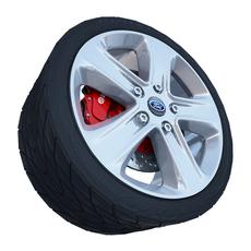 Ford Sport Wheel 3D Model