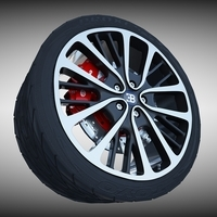 Bugatti Veyron Wheel 3D Model