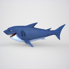 Cartoon Shark 3D Model