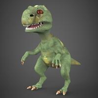 Baby Dinosaur 3D Model