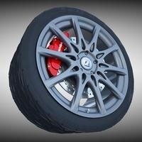 Lexus F- Sport Wheel 3D Model