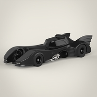 Realistic Batmobile 3D Model