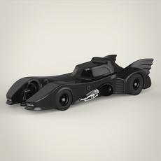 Realistic Batmobile 3D Model