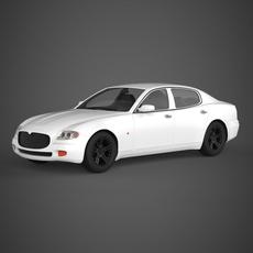 Realistic Car Maserati 3200GT 3D Model