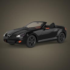 Realistic Car Mercedes Benz 3D Model