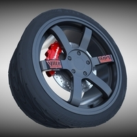 Volk Racing Wheel 3D Model