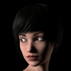 Maya Rigged Realistic Female Model with Compositing passes 3D Model