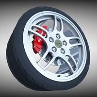 Nissan GTR- R33 Wheel 3D Model