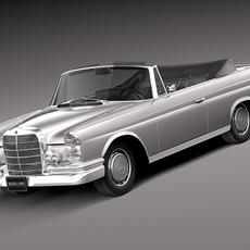 Mercedes-Benz 300SE W112 Convertible 3D Model