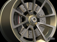 Ferrari Sergio rim 3D Model