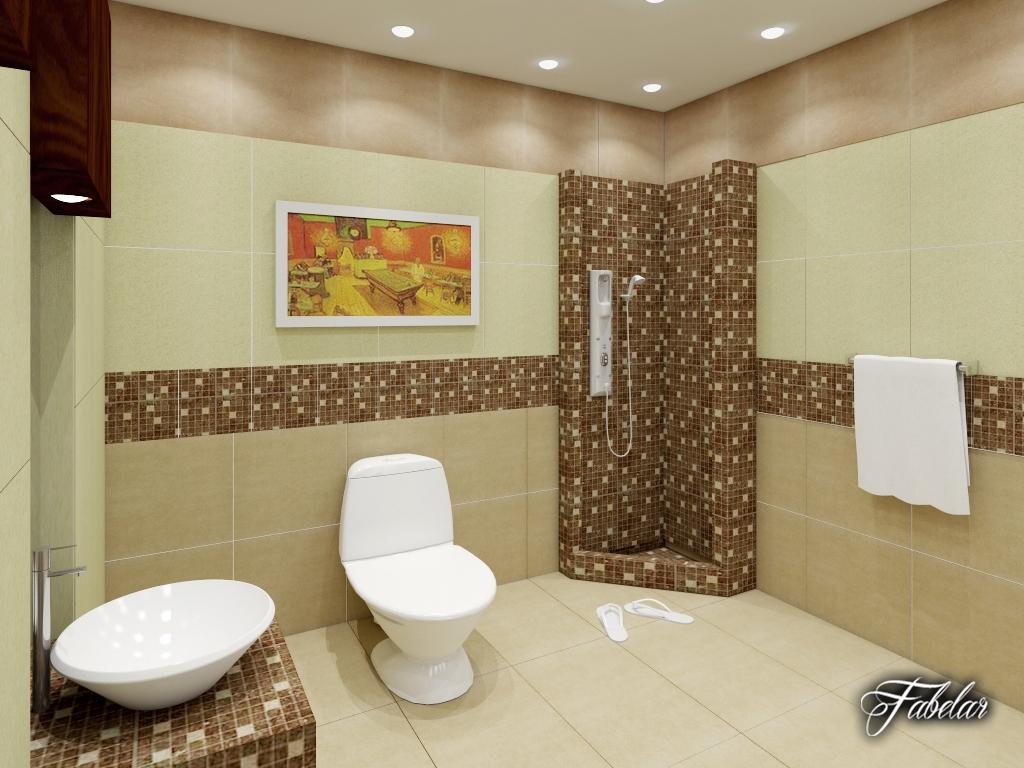 Bathroom 03 3d model for Bathroom design 3d model