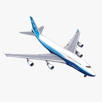 B747 Boeing Livery 3D Model