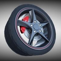 Audi R8 Spyder Wheel 3D Model