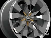 Volkswagen Crossblue rim 3D Model