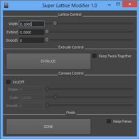 Super Lattice Modifier 1.0.0 for Maya (maya script)