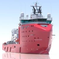 Multi Role Vessel Skandi Hugen 3D Model