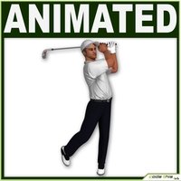 White Golf Player CG 3D Model