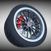 RM Racing Sports Wheel 3D Model