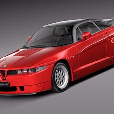 Alfa Romeo SZ Zagato 1989-1991 3D Model